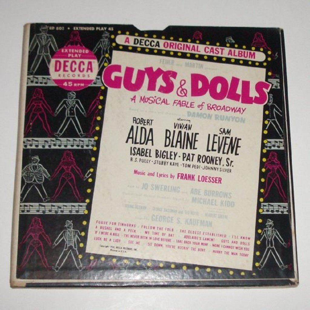 Guys & Dolls Original Cast Album 3 Vinyl Record Albums in Gatefold Set