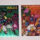 2 WILDC.A.T.s Comic Trading Cards SPARTAN Chromium PR1 & #60 Jim Lee 1994