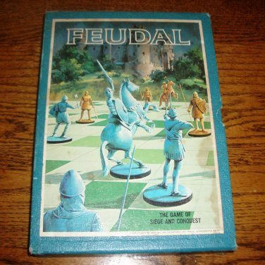 FEUDAL Bookshelf Board Game 1969 3M Vintage Roleplaying Game