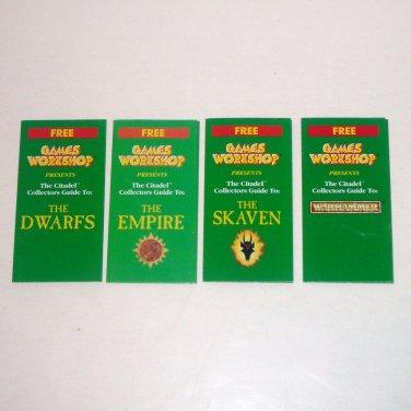 Citadel Collectors Guides SET OF 4 Dwarfs Empire Skaven Warhammer Games Workshop