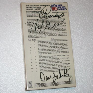 Harold Carmichael, Hal Greer, Dave Schultz Original Autographs NFL Films Video