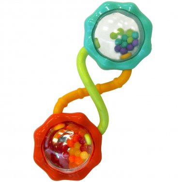Bright Starts Rattle and Shake Barbell Rattle Ages 3 Months & Up