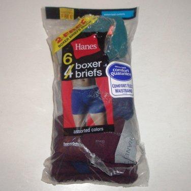 Hanes Men's Boxer Briefs 5-Pack 7349C6 - Assorted Colors Sz M