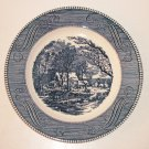 "Vintage 10"" Plate CURRIER and IVES ""The Old Grist Mill"" by Royal USA"
