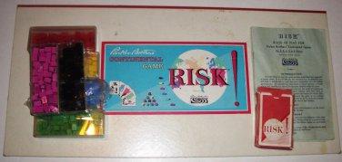 RISK Continental Board Game Parker Bros 1959 Plastic Pieces NO Box or Dice 10+