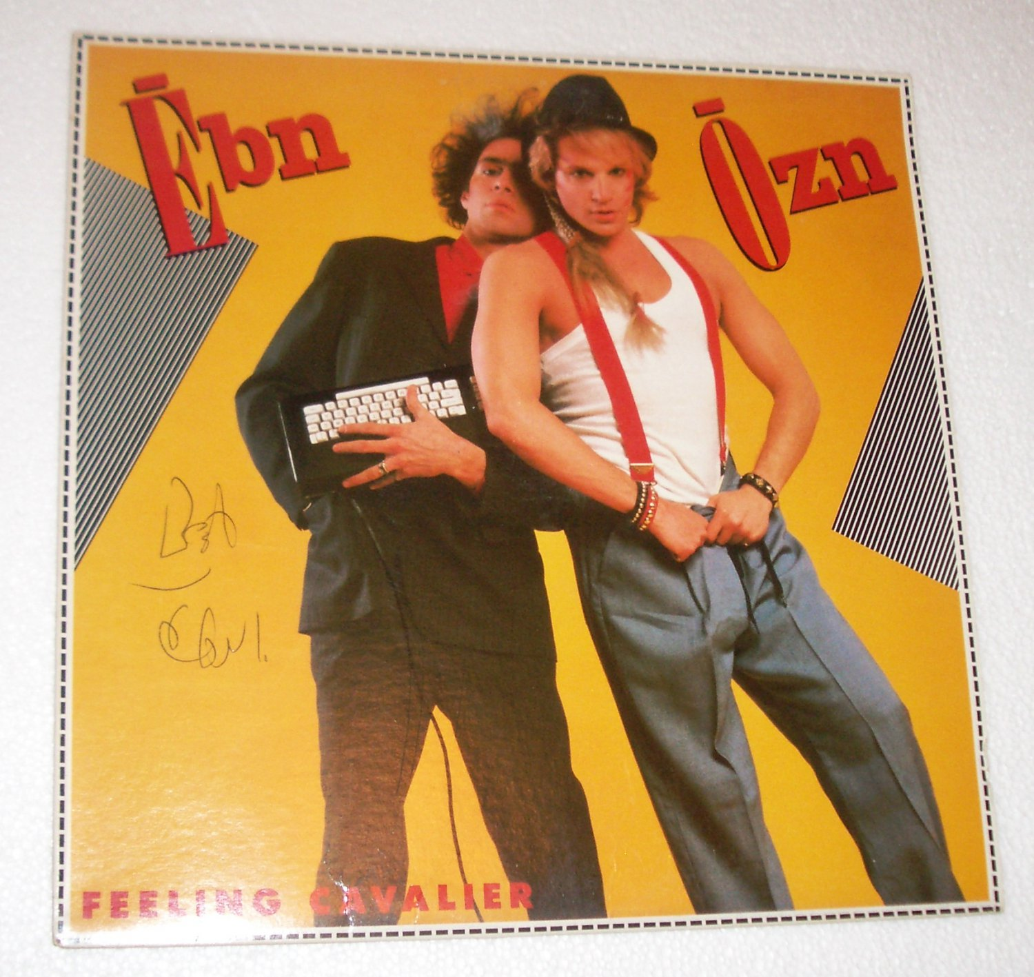 "Ebn Ozn Feeling Cavalier New Wave 1984 12"" Lp  Elektra SIGNED AUTOGRAPHED"