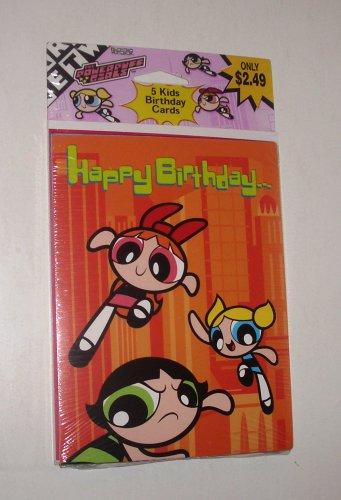 Powerpuff Girls SEALED Vintage Invitations 2001 OOP American Greetings Set of 5