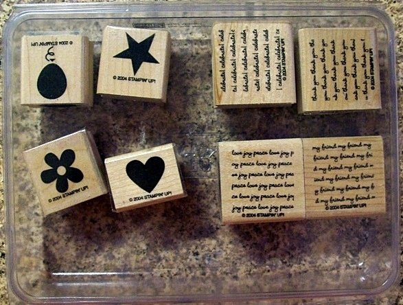 Stampin Up Two Step Stampin Mini Messages Stamp Set