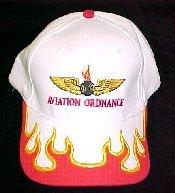 White Aviation Ordnance Ball Cap