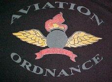 Black T-shirt - Aviation Ordnance