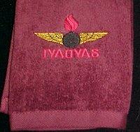Black AO Golf Towel