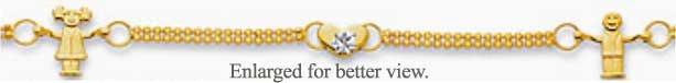 14kt Gold Anklet Titled - Childs Play