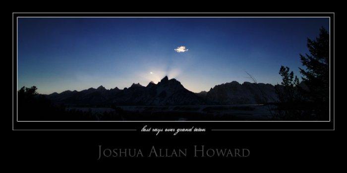 Last Rays Over Grand Teton by Joshua Allan Howard