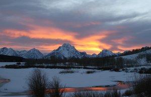 Mount Moran at Sunset