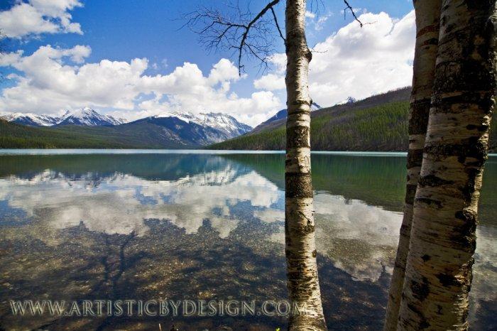 "Peering Through to Kintla Lake - 20""x 30"" Signed Print"