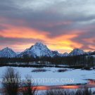"Blazing Skies Along the Oxbow - 20""x 30"" Signed Print"