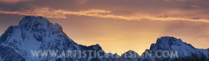 """Mountain's Majesty - 10""""x 30"""" Signed Panoramic Print"""