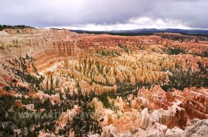 """Overcast Skies Over Bryce Amphitheater - 20""""x 30"""" Signed Print"""