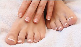 Spa Manicure and Pedicure