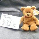 TEDDY THE BROWN BEAR BEANIE BABY
