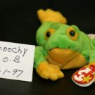 SMOOCHY THE YELLOWED BELLIED FROG BEANIE BABY