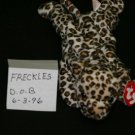 FRECKLES THE  SPOTTED LEOPARD BEANIE BABY