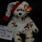 1998 HOLIDAY HOLLY TEDDY BEAR BEANIE BABY