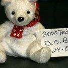 2000 WHITE TEDDY BEAR BEANIE BABY