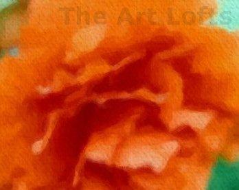 """Orange Burst - Sableux Peut-être - Gloss Poster (28.8"""" x 24.0"""")"""