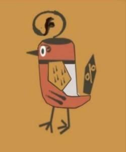 Alice - Sabby's Birds - Original Artwork - Sableux Peut-être