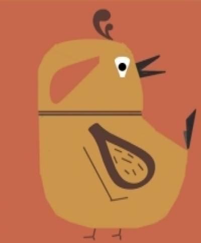 Matilda - Sabby's Birds - Original Artwork - Sableux Peut-être