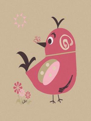 Saffron - Sabby's Birds - Original Artwork - Sableux Peut-être