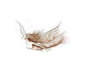 Angel in Flight - Oil Pastels - Sableux Peut-être