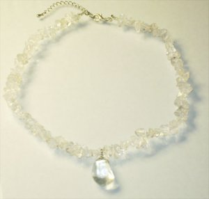 Crystal Quarts Pendant Necklace