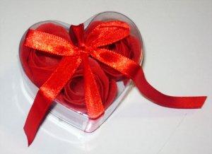 Rose Paper Soap in Heart Box