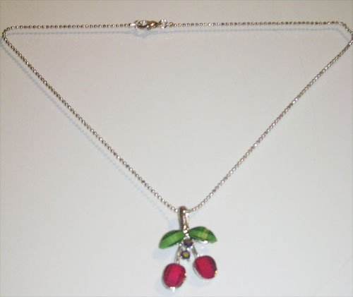 Acrylic Cherries Necklace
