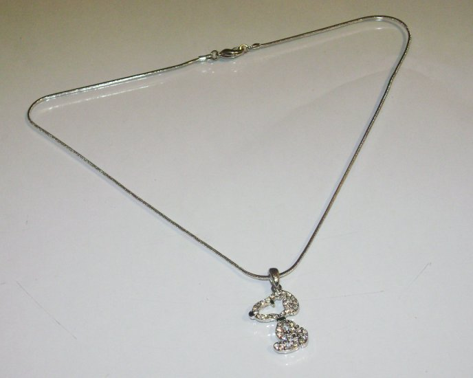 Rhinestone Snoopy Necklace