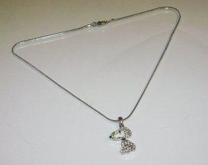 Rhinestone Snoopy Necklace