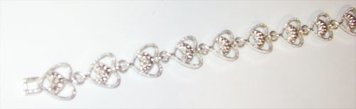 Marcasite Heart Bracelet