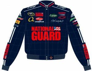 2008 DALE EARNHARDT JR. / NATIONAL GUARD ADULT BLUE TWILL JACKET