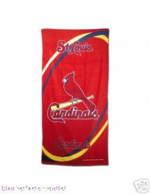 St Louis Cardinals MLB Beach / Bath Towel NEW