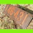 ANTIQUE SINGLE 1925 PENNA License Plate PENNSYLVANIA