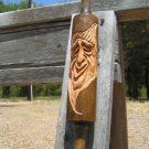 Small Hand Carved Gnome Kitchen Rolling Pin Wall Hang