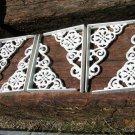 6 Cast Iron Wall Shelf Brackets Corbel VICTORIAN Braces White ec