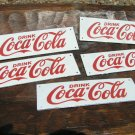 FIVE Drink Coca Cola Porcelain small Coke plaque s ecr