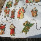 Lot of ELEVEN Vintage 1977 Santa Merrimack Christmas Ornaments ec