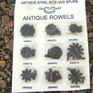 Brown Replacement spur COMPLETE rowel sets WITH Pins AND cotter pin s ec