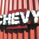 Junk Iron Art Chevy sign man cave work shop or party room 3-D 0519