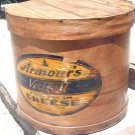 Vintage Armour Veribest Cream Cheese wooden round crate WITH label
