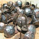 100 Steel Hammered Clavos Decorative Metal Nails Heads Door Furniture Craft 1 in